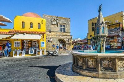 Vue de l'île grecque de Rhodes.
