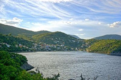 Vue de l'île grecque d'Ithaque.