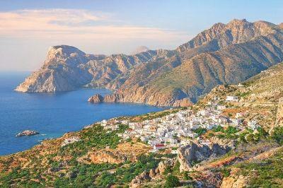 Vue de l'île grecque de Karpathos.