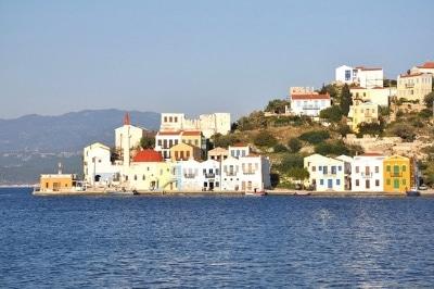 Vue de l'île grecque de Kastellorizo.