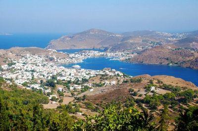 Vue de l'île grecque de Patmos.