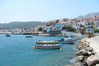 Vue de l'île grecque de Samos.