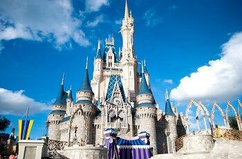 Le château de Disney à Orlando en Floride.