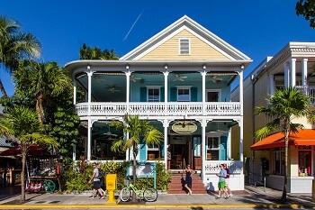 Maison sur une île des Keys de Floride.