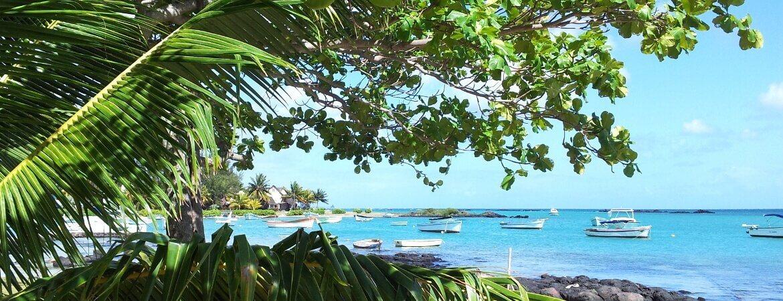 Une plage à l'île Maurice.