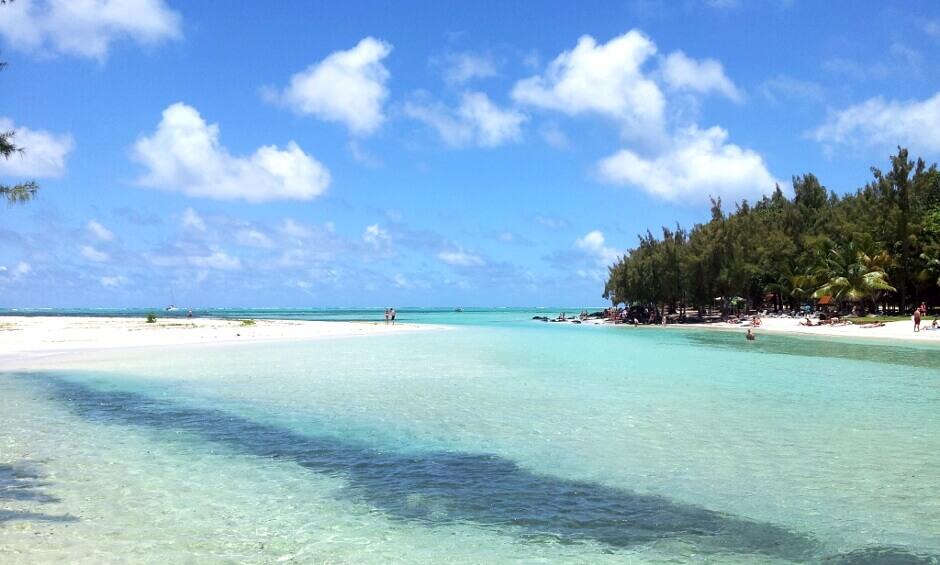Plage de l'île Maurice.