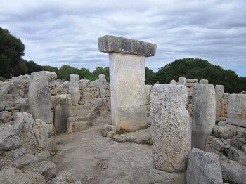 Un dolmen à Minorque.