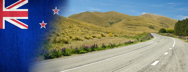Une route en Nouvelle-Zélande.