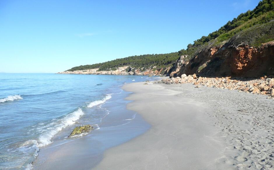 Plage de Santo Tomas à Minorque.
