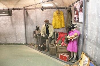 Intérieur d'un bunker à Prague.