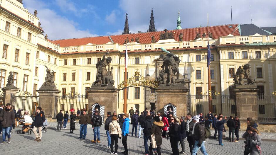 Vue du château de Prague.