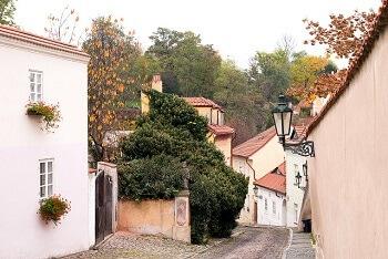Une rue à Prague.
