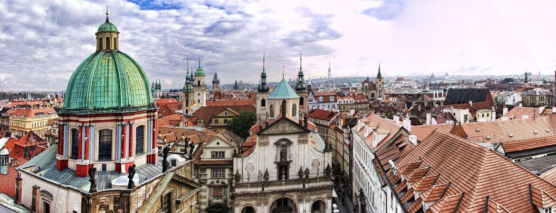 Vue de la ville de Prague.