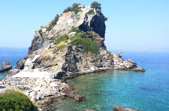 Une chapelle sur l'île de Skopelos.
