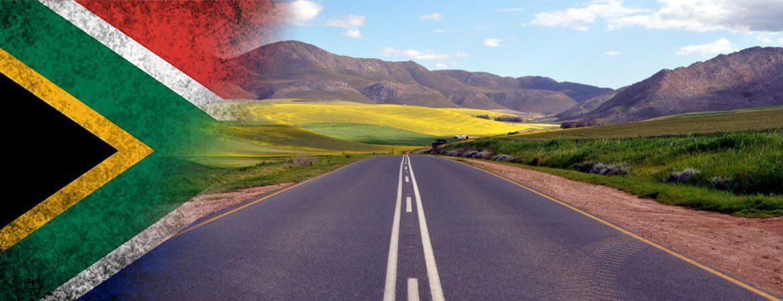 Une route en Afrique du Sud.