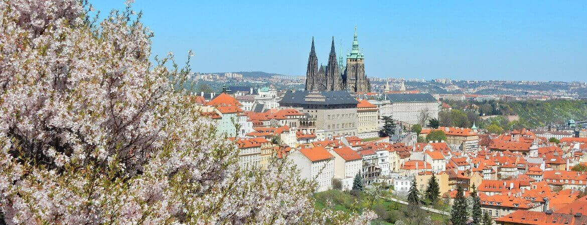 Point de vue sur Prague.