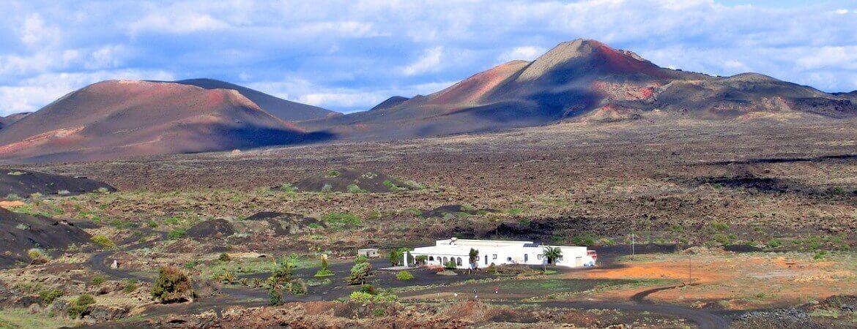 Paysage volcanique à Lanzarote.