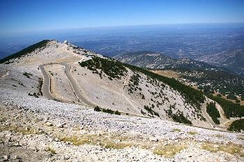 Au sommet du mont Ventoux.