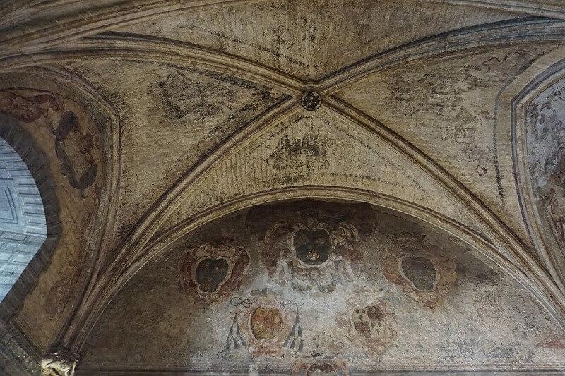 Fresque dans le palais des papes d'Avignon.