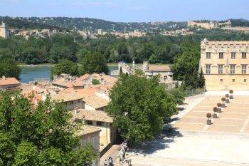 Vue depuis le palais des papes d'Avignon.
