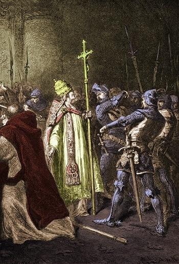 Peinture de l'Attentat d'Anagni.