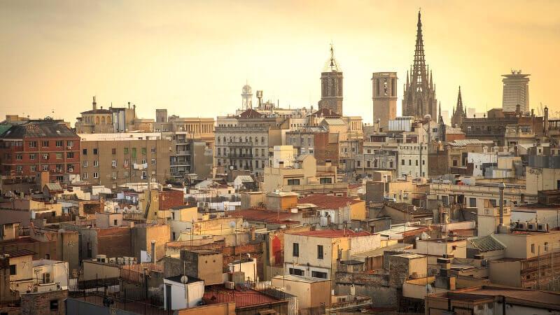 Vue du vieux Barcelone.