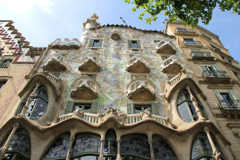 Maison de Gaudí à Barcelone.
