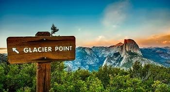 Panneau dans le parc de Yosemite.