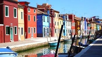 Maisons colorées de Burano.