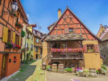 Maisons à colombages en Alsace.