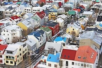 Vue de Reykjavik.