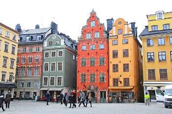 Une place à Stockholm.
