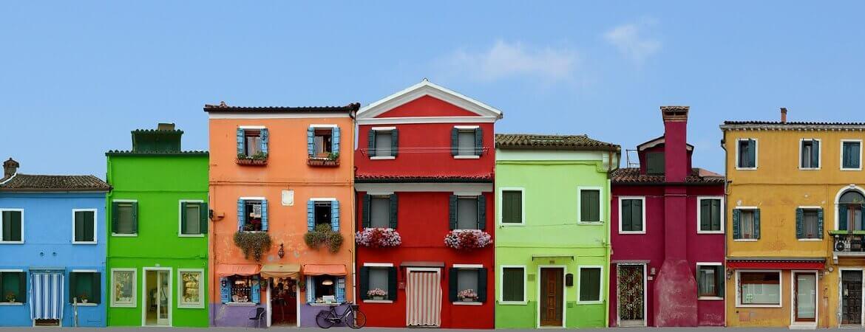 Façades colorées à Burano.