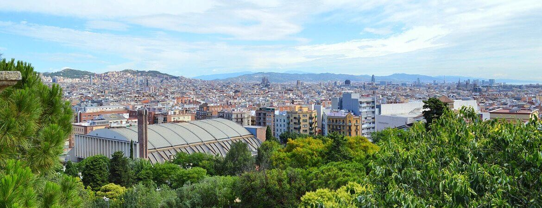 Vue panoramique sur Barcelone.