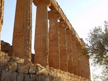 Un temple grec en Sicile.