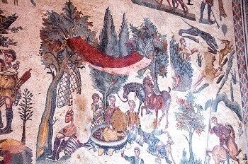 Mosaïques romaines en Sicile.