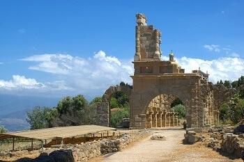 Un temple romain en Sicile.
