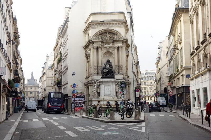 La fontaine Molière à Paris.