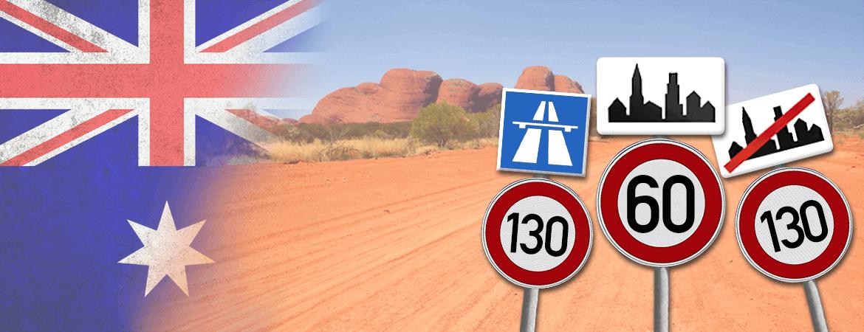 Panneaux dans le bush australien.