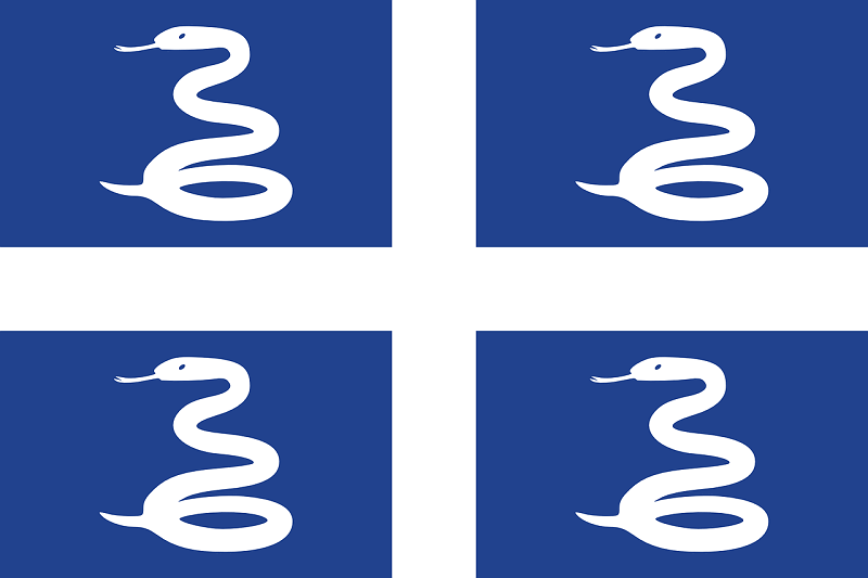 "Le ""drapeau aux serpents"" de Martinique."