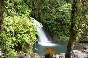 Cascade en Guadeloupe.