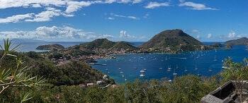 Les îles des Saintes en Guadeloupe.