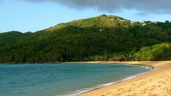 Plage en Guadeloupe.