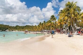 Plage de rêve en Guadeloupe.