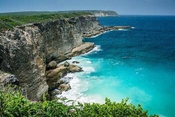 Falaises en Guadeloupe.