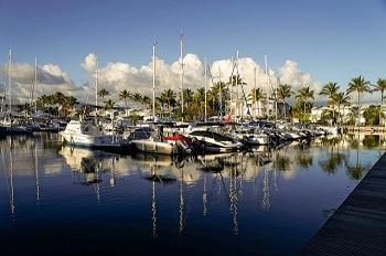 Port de plaisance en Guadeloupe.