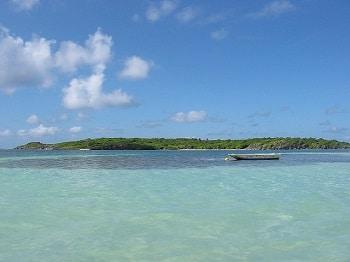 Eaux turquoises en Martinique.