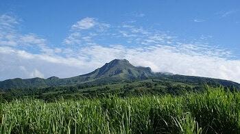 Le volcan de la Montagne Pelée en Martinique.