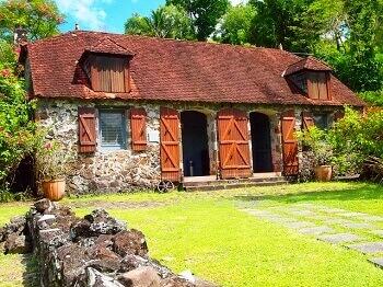 Vue du musée de la Pagerie en Martinique.