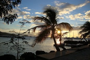 Coucher de soleil en Martinique.